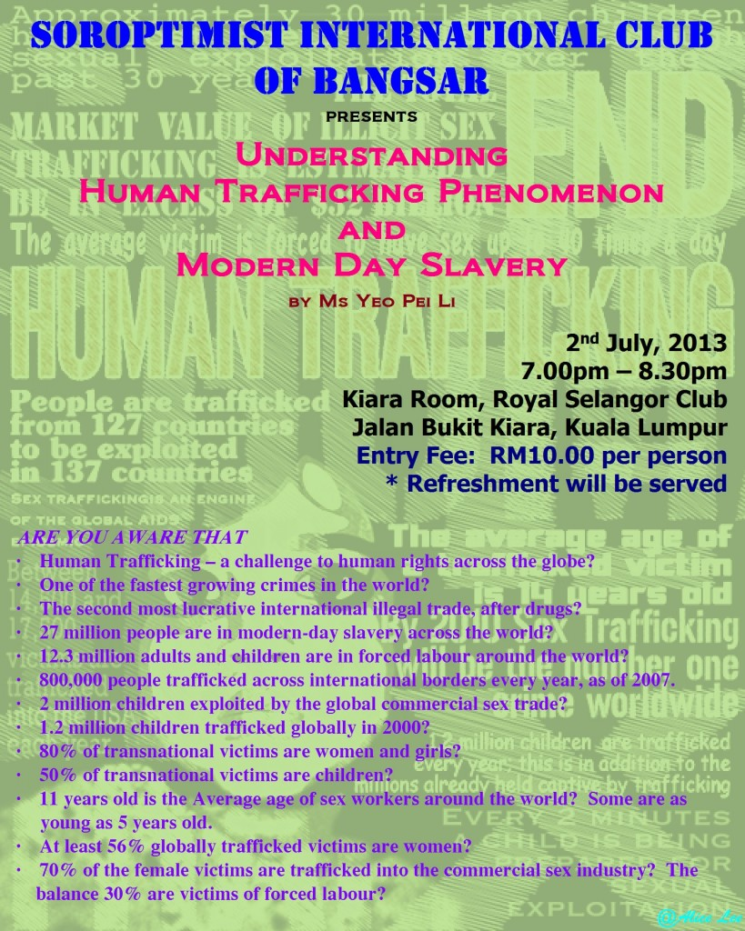 Poster - Human Trafficking Talk 2-7-2013 (Confirmed Final Version @ 19-6-2013)