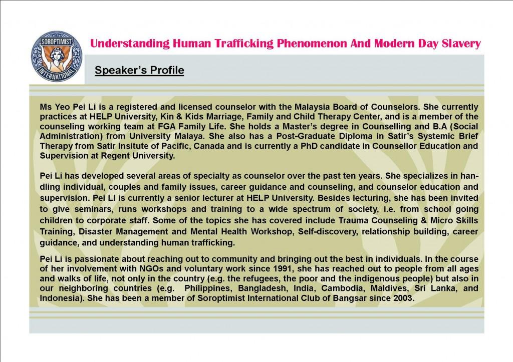 Speaker's Profile - Yeo Pei Li