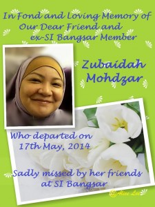 In Memory of Zubaidah Mohdzar 1
